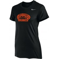 Ventura Tigres 12: Nike Women's Legend Short-Sleeve Training Top - Black