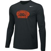 Ventura Tigres 13: Adult-Size - Nike Team Legend Long-Sleeve Crew T-Shirt - Black
